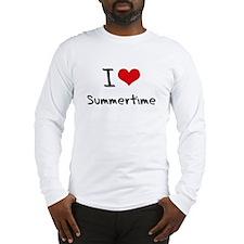 I love Summertime Long Sleeve T-Shirt