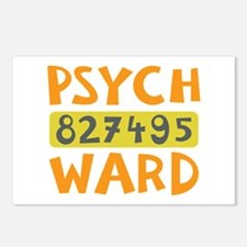 Psych Ward Inmate Postcards (Package of 8)