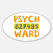 Psych Ward Inmate Decal