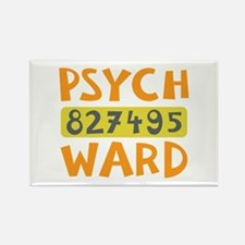Psych Ward Inmate Rectangle Magnet