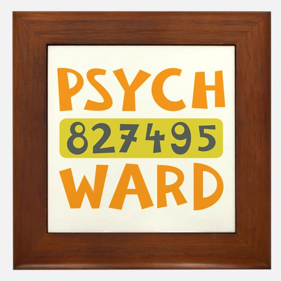 Psych Ward Inmate Framed Tile