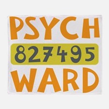 Psych Ward Inmate Throw Blanket