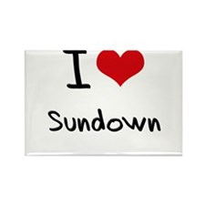I love Sundown Rectangle Magnet