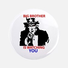 """Big Brother is Watching You 3.5"""" Button"""