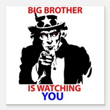 Big Brother is Watching You Square Car Magnet 3&qu