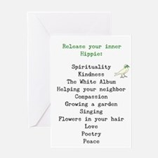 RELEASE YOUR INNER HIPPIE Greeting Card