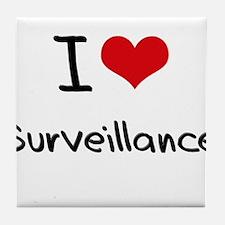 I love Surveillance Tile Coaster