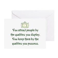 THE QUALITIES YOU POSSESS Greeting Card
