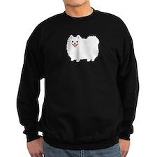 White Pomeranian Sweatshirt