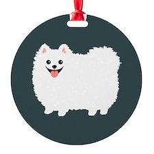 White Pomeranian Ornament