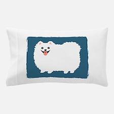 White Pomeranian Pillow Case