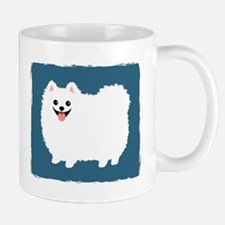White Pomeranian Mug