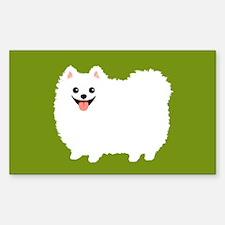 White Pomeranian Decal