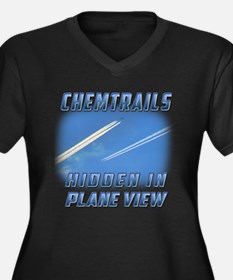Chemtrails - Hidden in Plane View Plus Size T-Shir