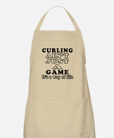 Curling ain't just a game Apron