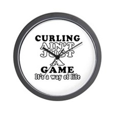 Curling ain't just a game Wall Clock