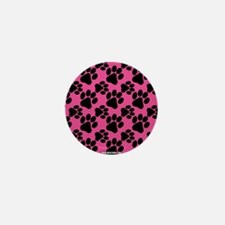 Dog Paws Bright Pink Mini Button