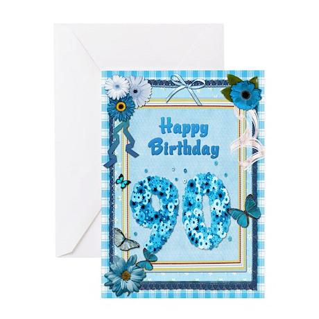 90th birthday craft look card greeting card by supercards for Image craft greeting cards