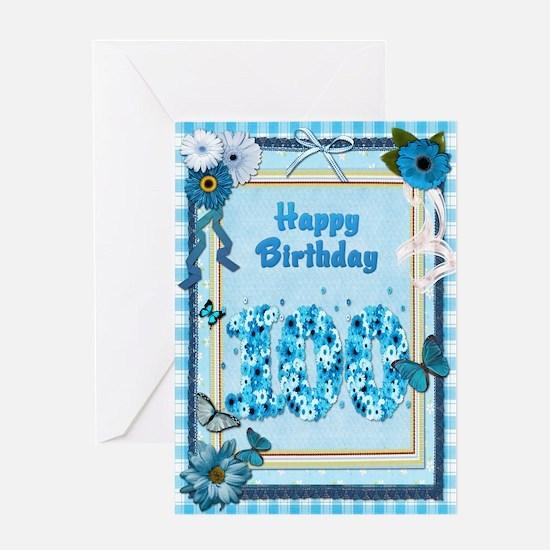 100th birthday craft-look card Greeting Card