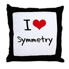 I love Symmetry Throw Pillow