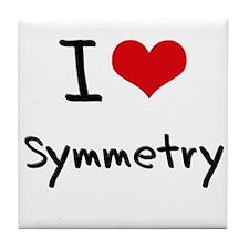 I love Symmetry Tile Coaster
