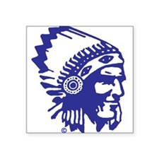 Blue Indian Head Dress Sticker