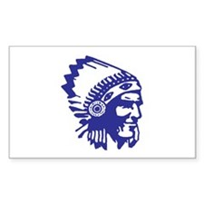 Blue Indian Head Dress Decal