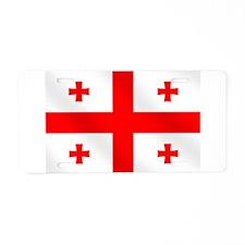 Flag of Georgia Aluminum License Plate