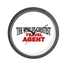 """The World's Greatest Travel Agent"" Wall Clock"