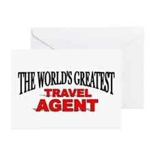 """""""The World's Greatest Travel Agent"""" Greeting Cards"""