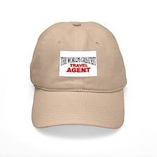 """The World's Greatest Travel Agent"" Baseball Cap"