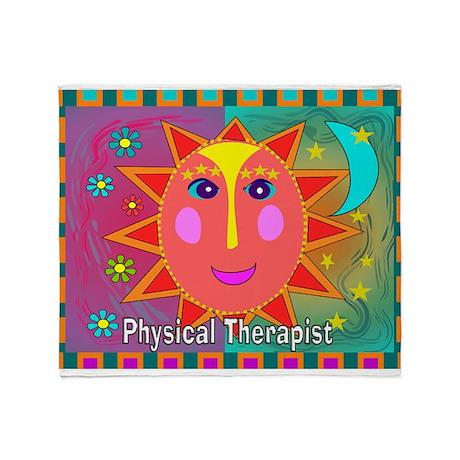 physical therapist sun moon Throw Blanket