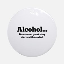 Alcohol Ornament (Round)