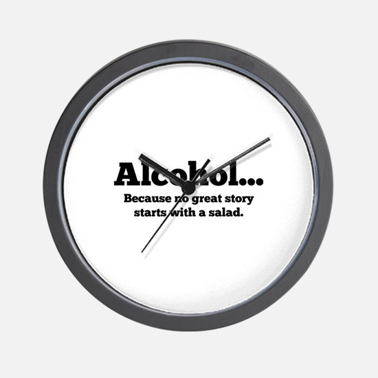 Alcohol Wall Clock