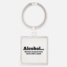 Alcohol Square Keychain