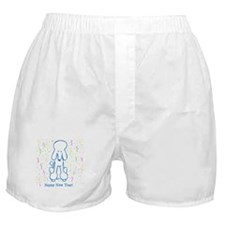 Happy New Year Poodle Boxer Shorts