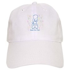 Happy New Year Poodle Baseball Cap