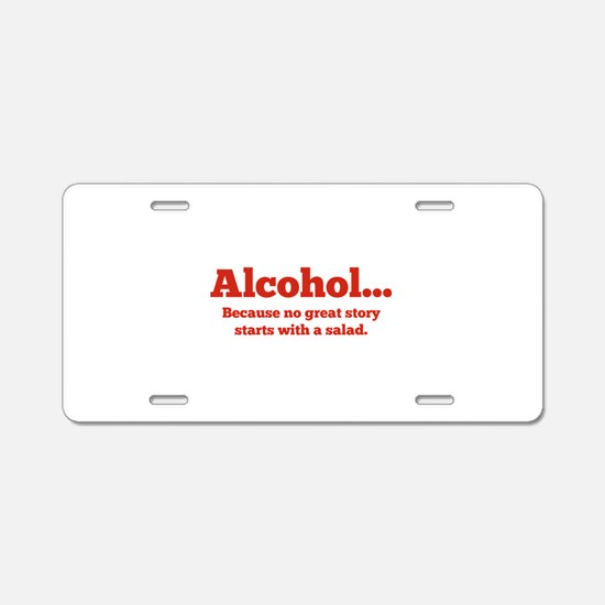 Alcohol Aluminum License Plate