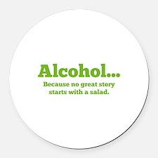 Alcohol Round Car Magnet