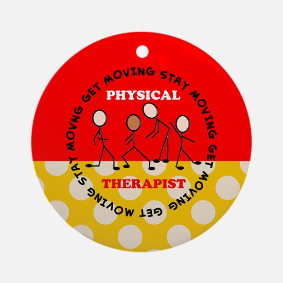 Physical Therapist pillow 1 Ornament (Round)