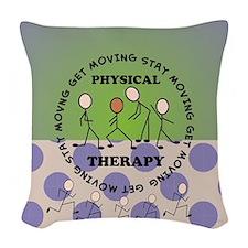 physical therapist pillow 4 Woven Throw Pillow