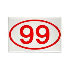 Number 99 Oval Rectangle Magnet (100 pack)