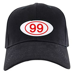 Number 99 Oval Baseball Hat