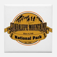 guadalupe mountains 2 Tile Coaster