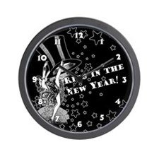 Vintage Showgirl New Year Wall Clock