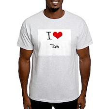 I love Tan T-Shirt