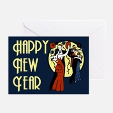 Retro Happy New Year Greeting Cards (Pk of 20)