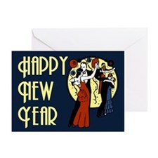 Retro Happy New Year Greeting Cards (Pk of 10)