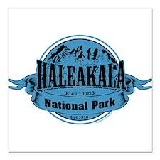 """haleakala 2 Square Car Magnet 3"""" x 3"""""""