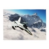 Fighter jet rug 5x7 Rugs